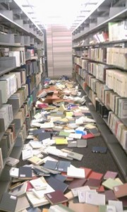 Earthquake damages libraries