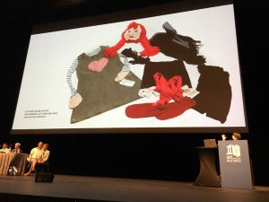 Photo of Claire Eggleston talks about the Art Gallery of New South Wales, Sydney, Australia