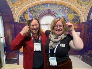 Cynthia Whitacre and Caroline Saccucci at ALA Midwinter 2020