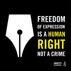 Amnesty image - freedom of expression is a human right