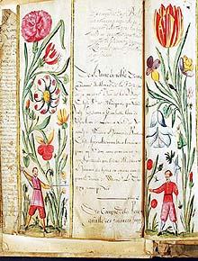 Flemish Flower Manuscript at Abe Books, http://www.abebooks.com/books/hours-gold-vellum-decorated-parchment/illuminated-manuscripts.shtml?cm_ven=blog&cm_cat=blog&cm_pla=link&cm_ite=title%20of%20blog%20post
