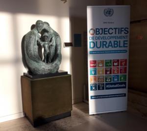 Sculpture at UN Headquarters, Geneva
