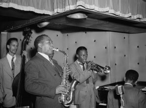 Charlie Parker, Tommy Potter, Miles Davis, Duke Jordan, Max Roach - Gottlieb Collection, Library of Congress CC0