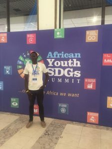 Damilare Oyedele at the African Youth SDGs Summit