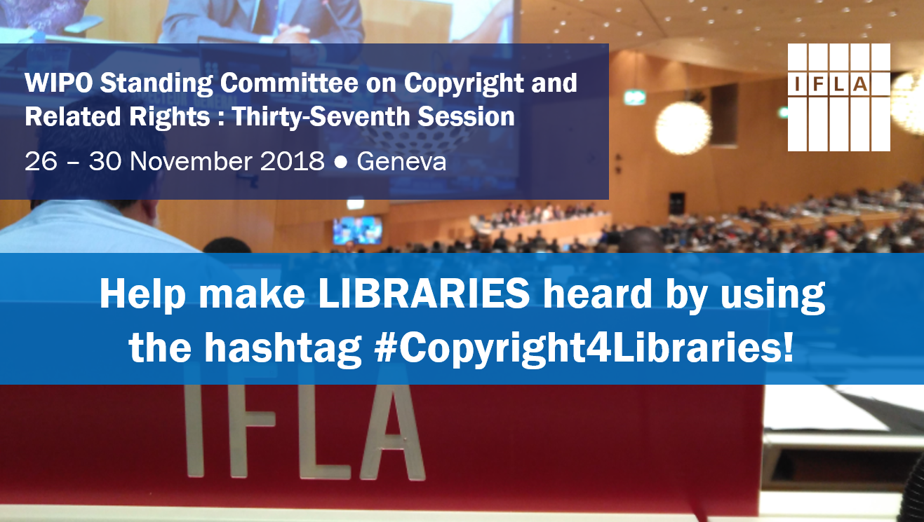 Help make libraries heard by using the hashtag #Copyright4Libraries
