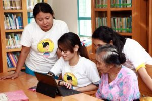 Photo of participants in the Tech Age Girls Project