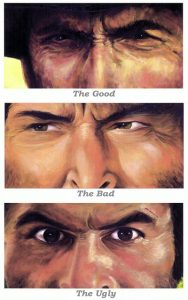 The Good, The Bad and the Ugly. ACJ1, CC-BY-NC-SA https://www.flickr.com/photos/ajc1/4684652569
