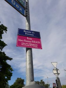 Alternative street sign for Mary Florence WIlson