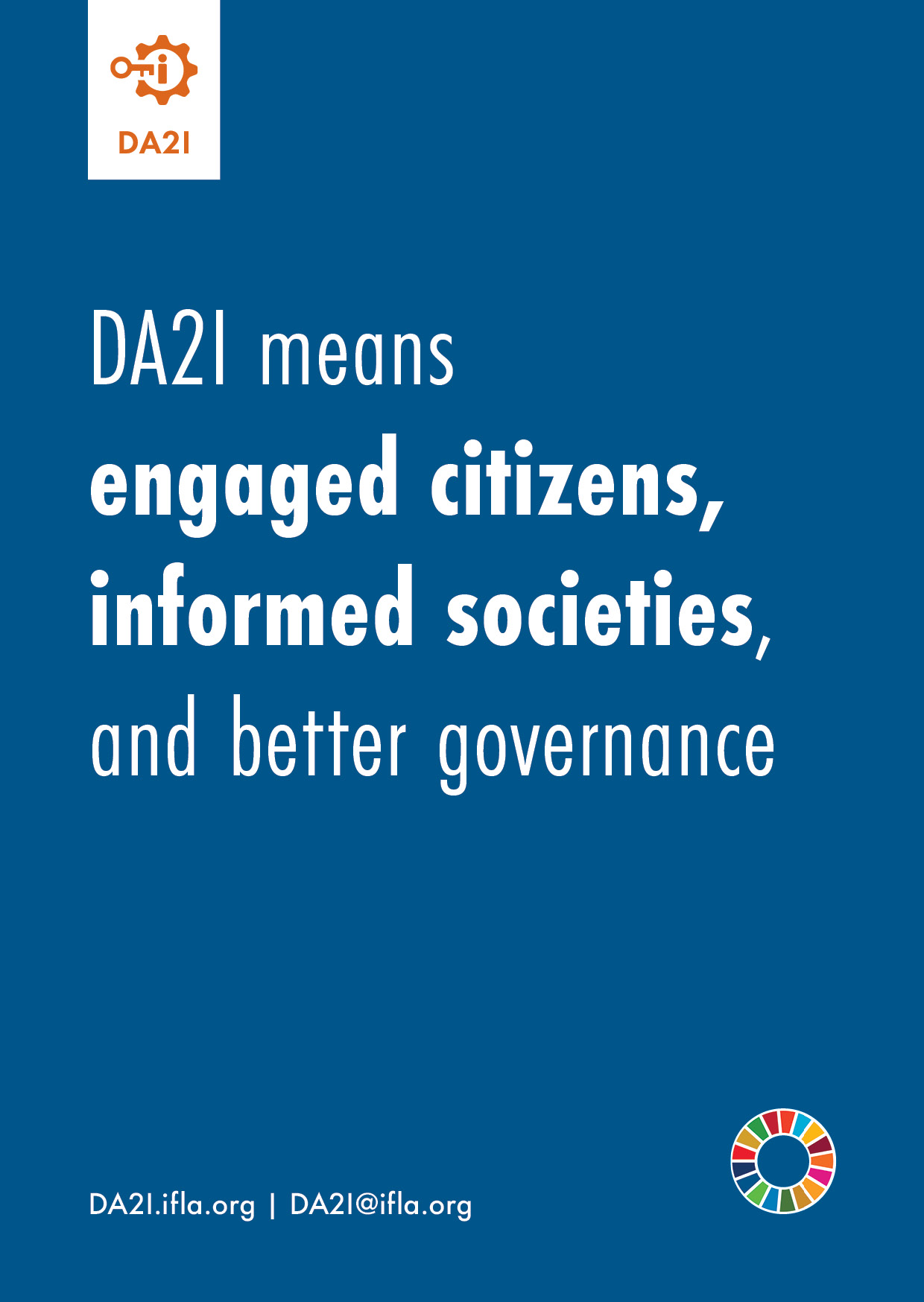 DA2I means engaged citizens, informed societies, and better governance