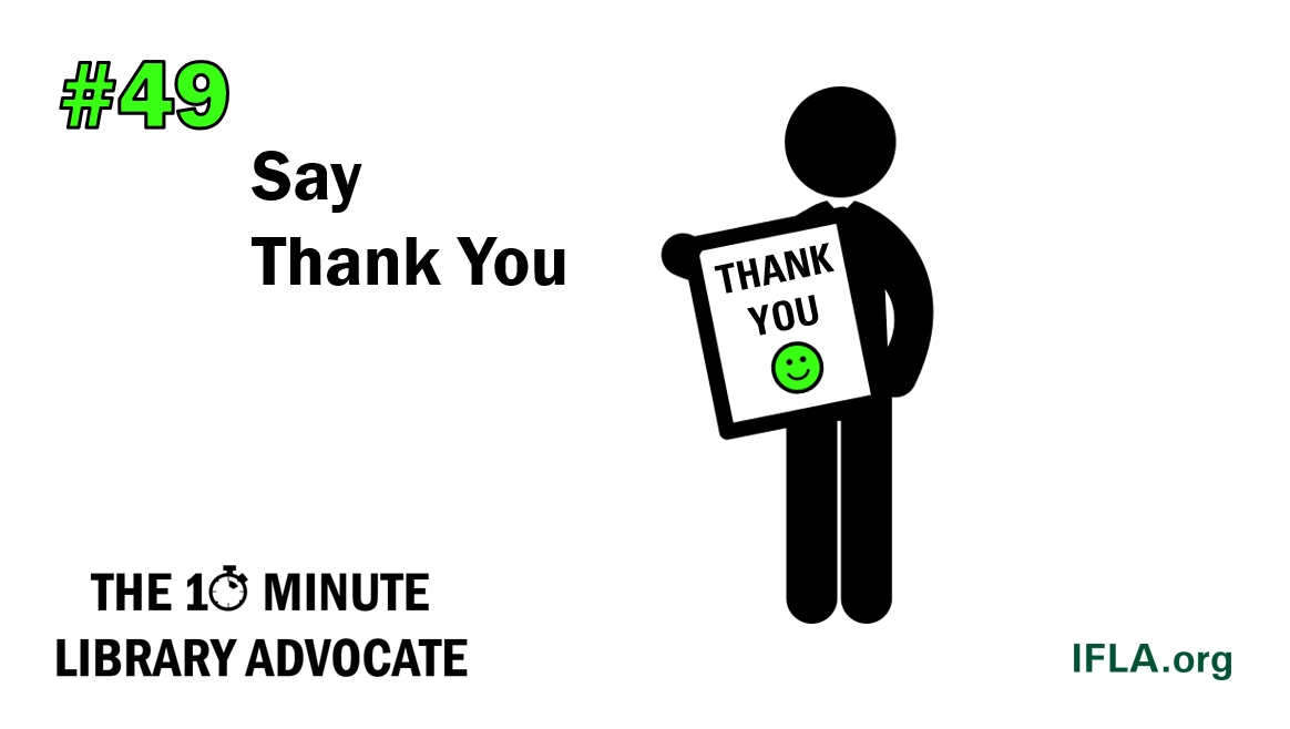 The 10-Minute Library Advocate #49: Say Thank You