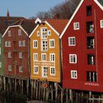 Colourful buildings in the Bakklandet neighbourhood.