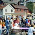 Archival photo of Bakklandet neighborhood, 1981