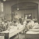 Serbian soldiers being treated for Spanish flu