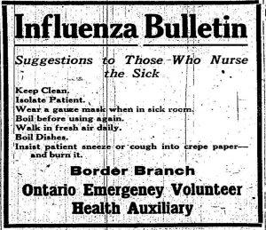 Archival news bulletin describing proper hygiene