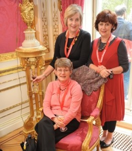 Marion Morgan Bindon, Jan Richards (rear) and Barbara Gubbin at the reception given at the Mayor's mansion