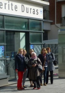 Standing Committee members outside Bibliothèque Marguerite Duras
