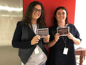 Monica Galassi and Kirsten Thorpe from the Indigenous Services Unit launch the Strategy